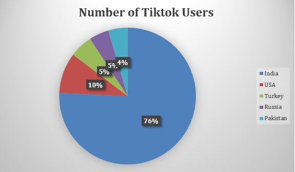 Number of TikTokers Per County